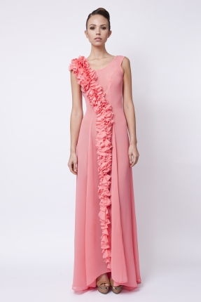 Long dress - Flori - Coral £1348 click to visit Carnet de Mode