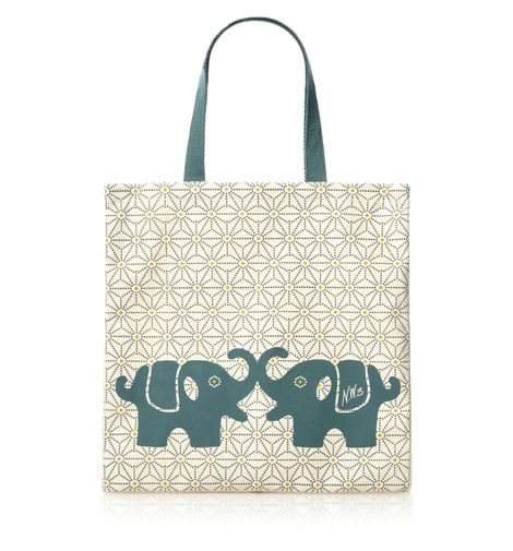 NW3 Elephants Canvas Tote NOW £10.00 (was £15.00) click to visit Hobbs