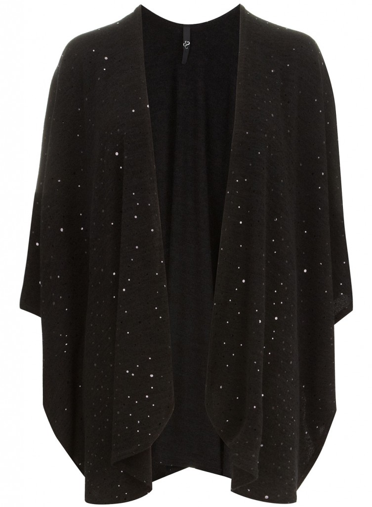 Evans Black Sequin Wrap Was £35.00 Now £20.00 click to visit Evans
