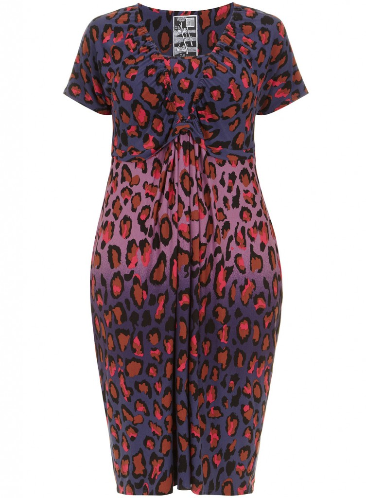 Clements Ribeiro Swan Purple Animal Print Jersey Dress     Price: £55.00 click to visit Evans