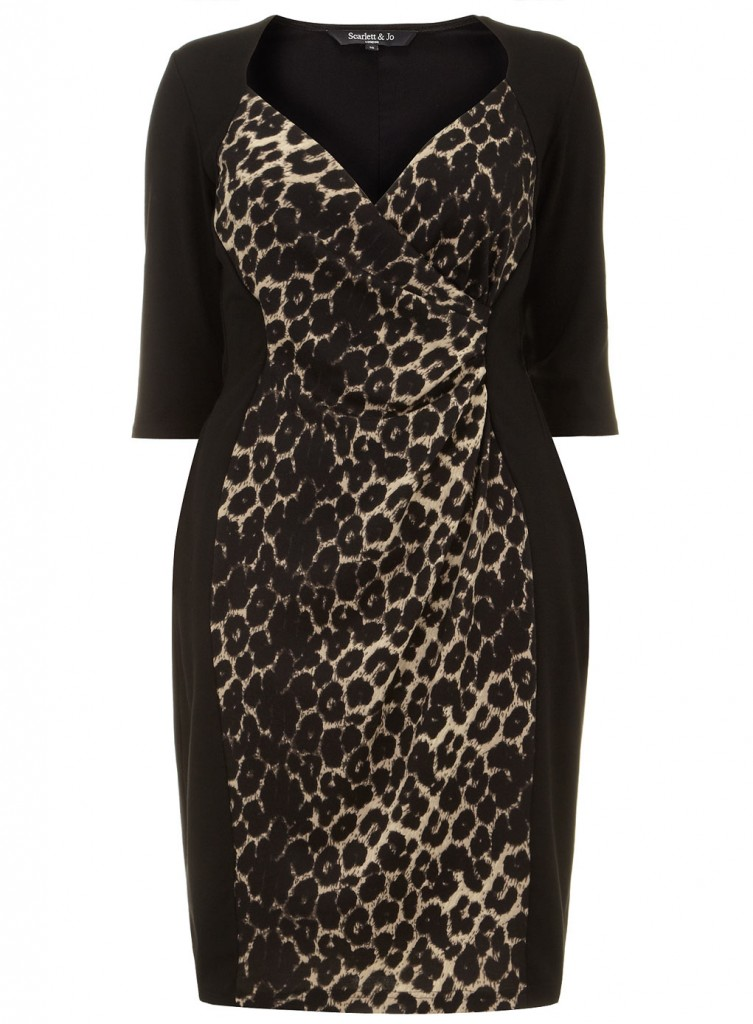 Scarlett & Jo Animal Print Powerfit Dress     Price: £45.00 click to visit Evans