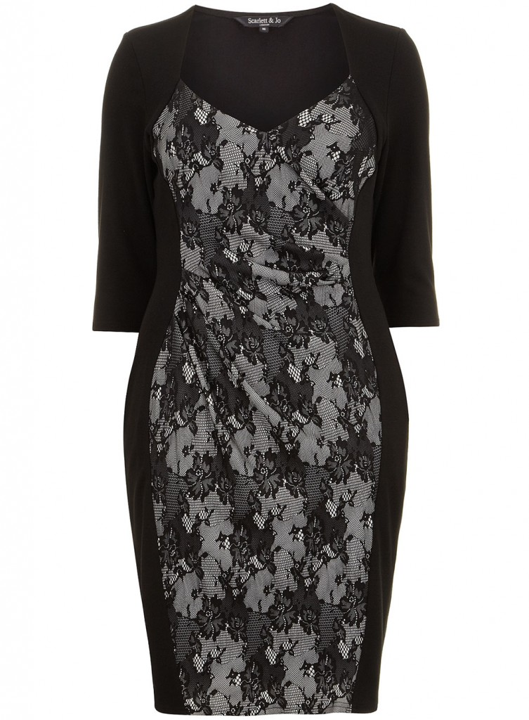 Scarlett & Jo Grey Lace Powerfit Dress     Price: £40.00 click to visit Evans
