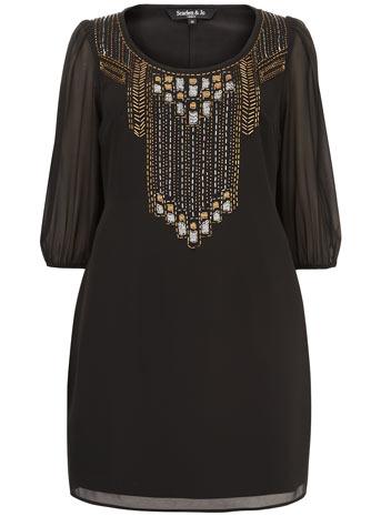 Scarlett & Jo Black Embellished Shift Dress     Price: £55.00 click to visit Evans