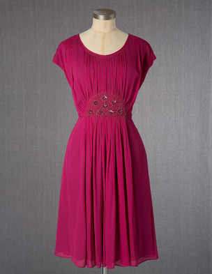 Jewelled Georgette Dress WH581 (Was £129.00 ) now £38.70 click to visit Boden