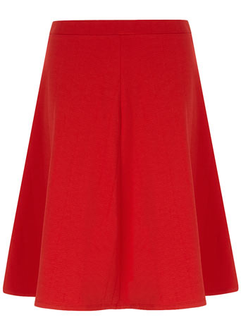 Red textured full midi skirt     Price: £18.00 click to visit Dorothy Perkins