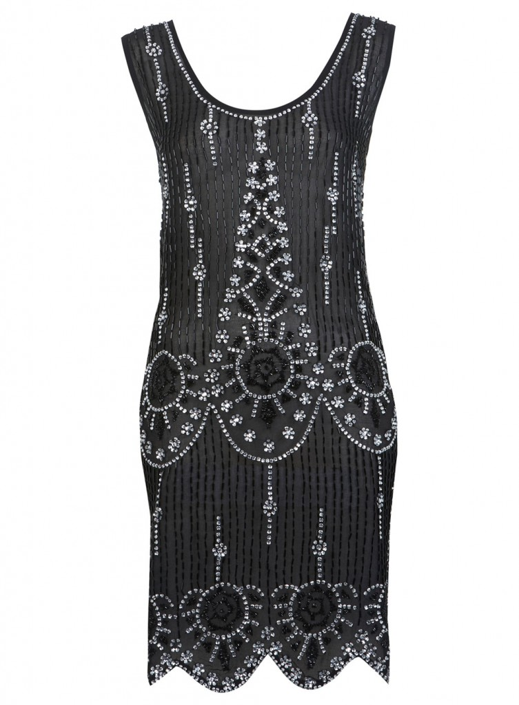 Black Flapper Embellised Dress     Price: £95.00 click to visit Miss Selfridge