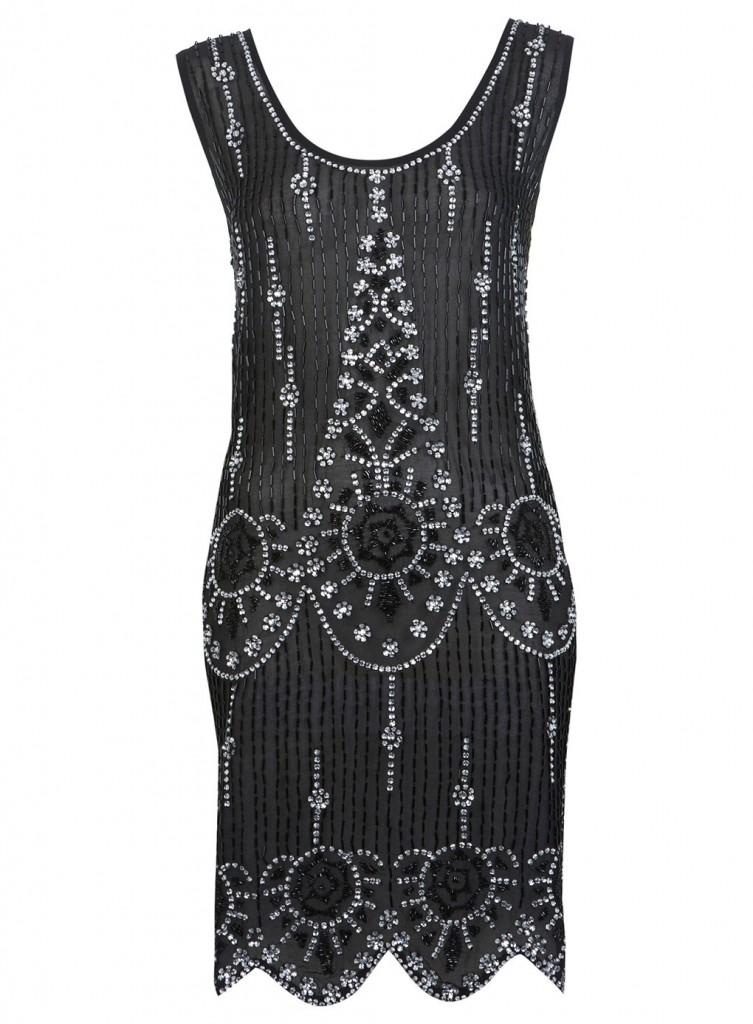 Black Flapper Embellised Dress     Price: £95.00 click to visit Miss Selfridge