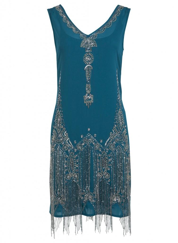 Teal Flapper Dress     Price: £170.00 click to visit Miss Selfridge