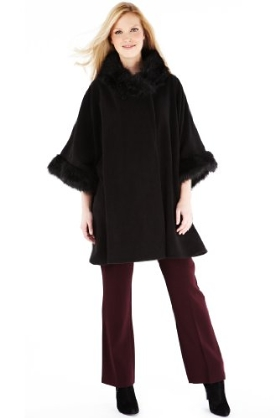 M&S Collection Faux Fur Collar Fleece Wrap Product Code: T018658 Now: £31.60 click to visit M&S