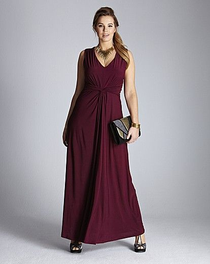Pleat Knot Detail Maxi Dress Product Code: QG351SH was from £65.00 to £75.00 SAVE from £20.00 to £30.00 NOW £45.00 click to visit Simply Be