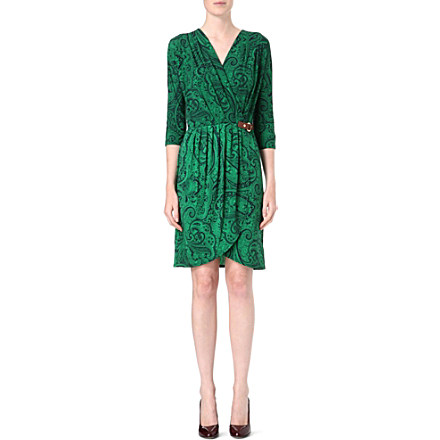MICHAEL KORS Printed v-neck dress Was £200.00 Now £95.00 Click to visit Selfridges