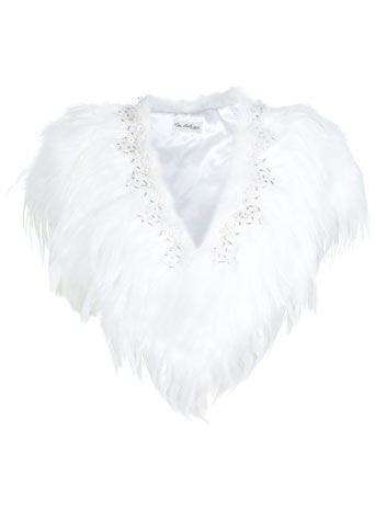 White Embellished Feather Cape     Price: £85.00 click to visit Miss Selfridge