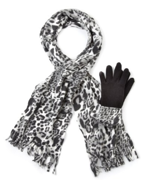 M&S Collection Animal Print Fleece Scarf & Gloves Set Product Code: T015967 Now: £12.00 click to visit M&S