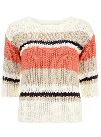 Coral stripe jumper     Price: £28.00 click to visit Dorothy Perkins