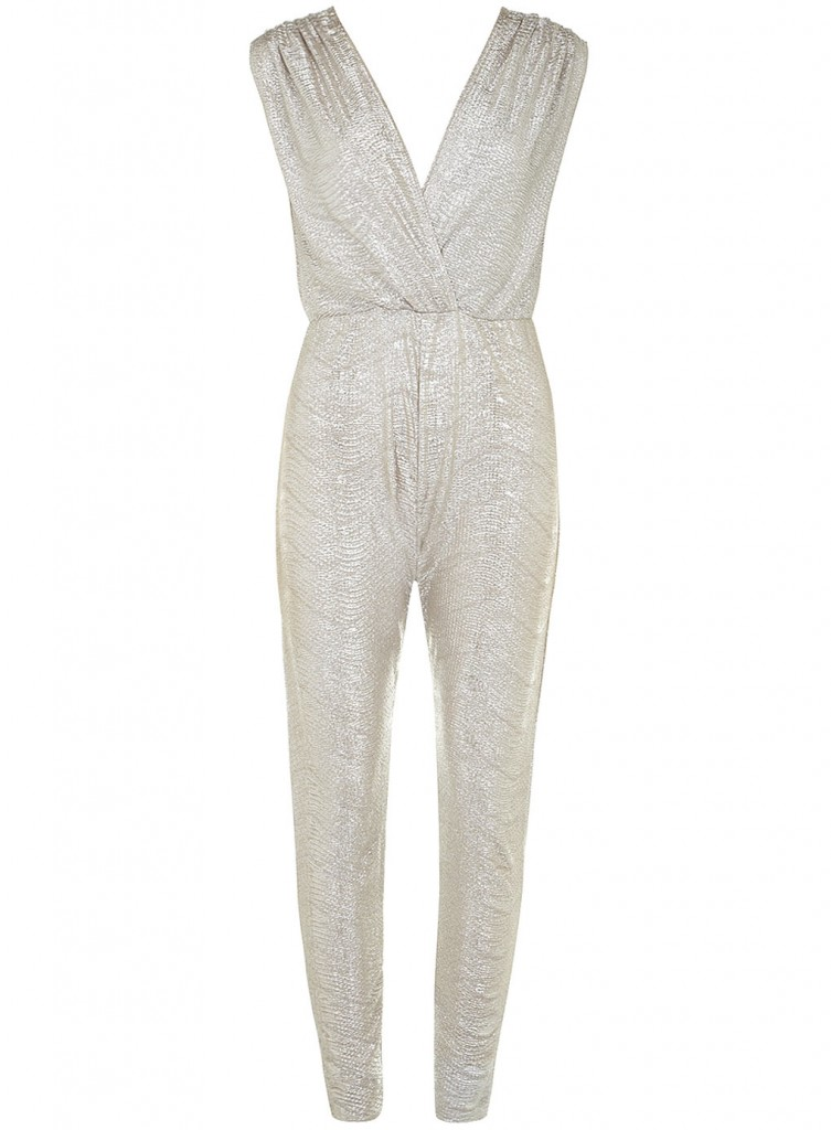 Gold v neck jumpsuit     Price: £39.99 click to visit Dorothy Perkins