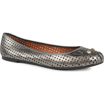 MARC BY MARC JACOBS Mouse perforated leather pumps now £115 click to visit Selfridges