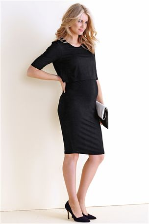 Black Two Layer Dress (Maternity) £22 click to visit Next