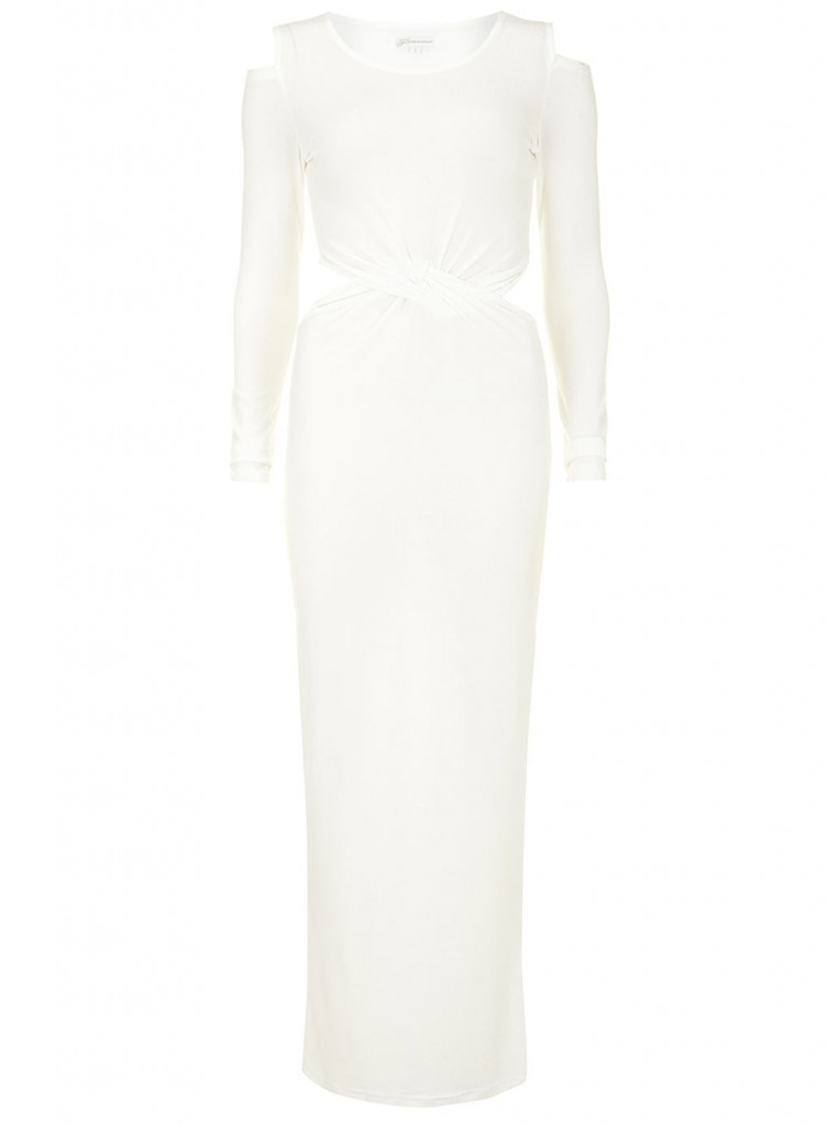 Cream twist show maxi dress     Was £33.00     Now £26.40 click to visit Dorothy Perkins