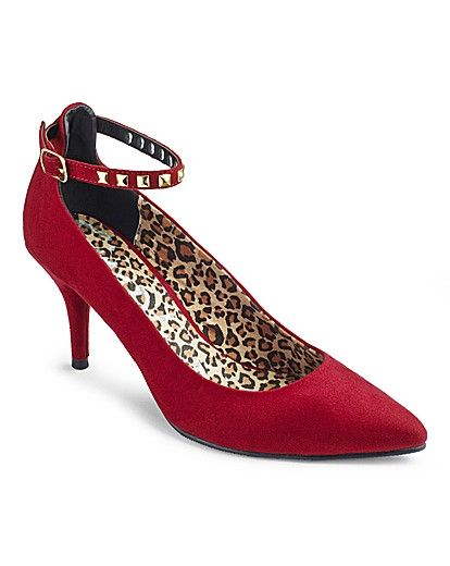 Catwalk Collection Ankle Strap Court EEE Product Code: NS462SH was £30.00 SAVE £5.00 NOW £25.00 click to visit Simply Be