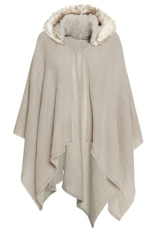 Grey Cape With Faux Fur Hood £28 click to visit Next