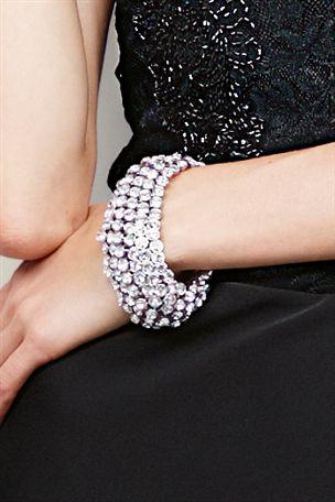 Bespoke Silver Diamanté Expander Bracelet £22 click to visit Next