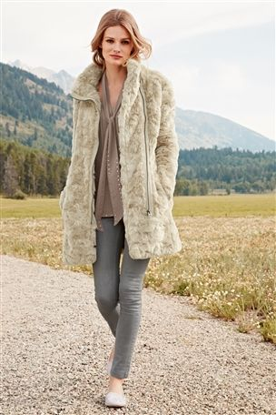 Next Faux Fur Coat - Coat Nj