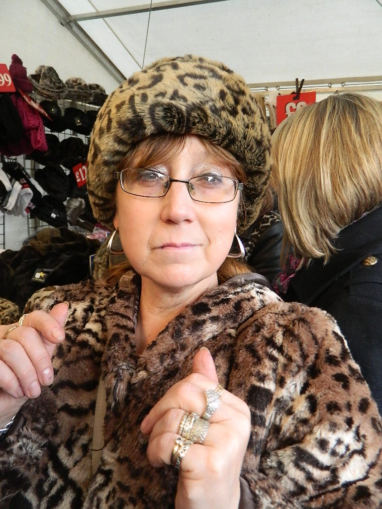 My glam mom totally rocks this hat.
