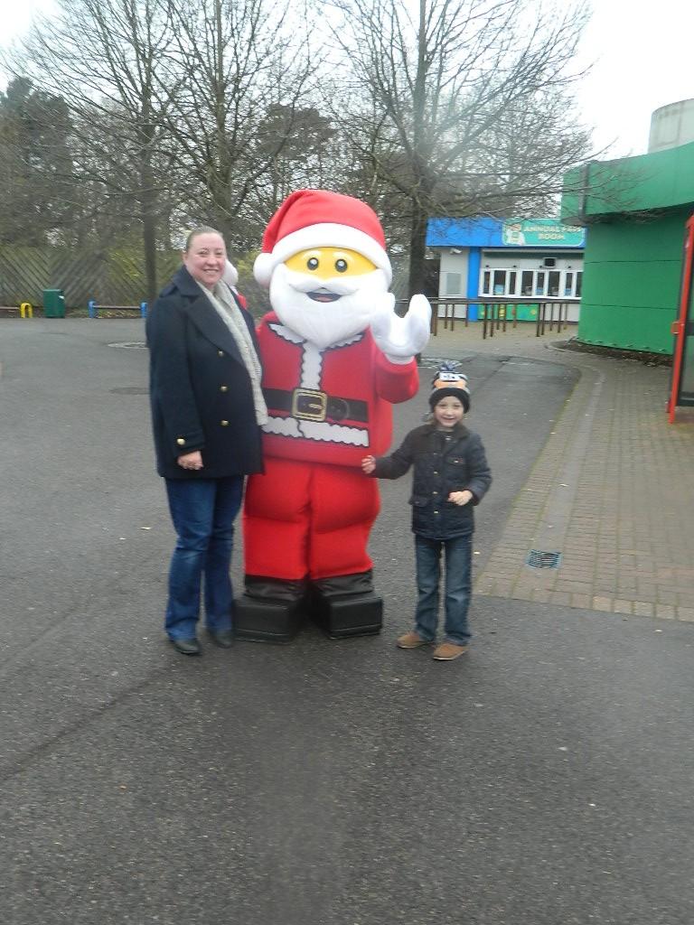 With Legoland Santa