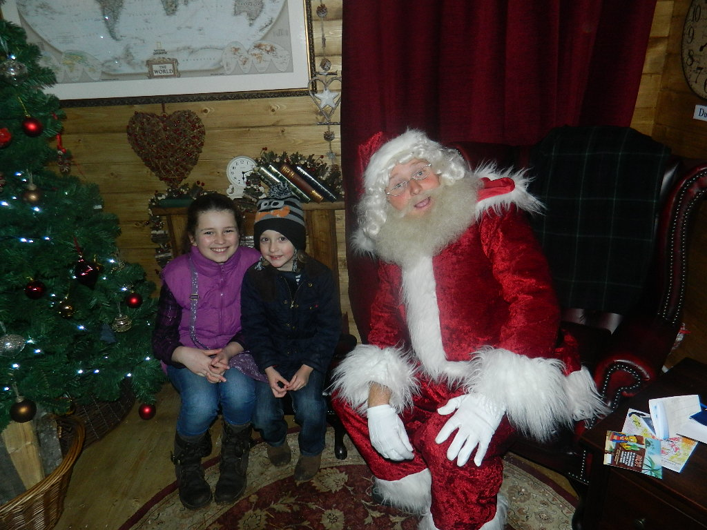 And Joe and my niece Lia meet the real Santa Claus