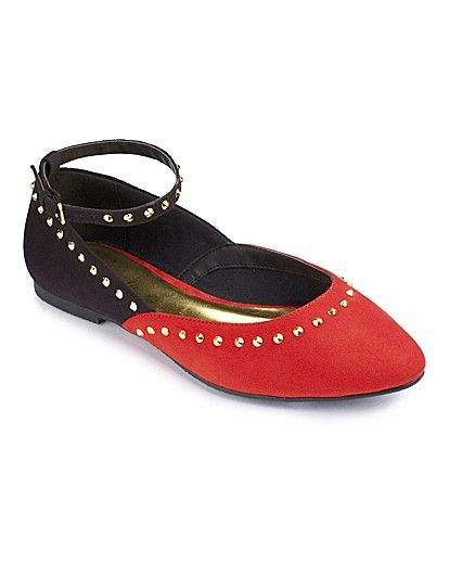 Heavenly Soles Studded Pointy Pump E Fit now £29.50 click to visit Simply Be
