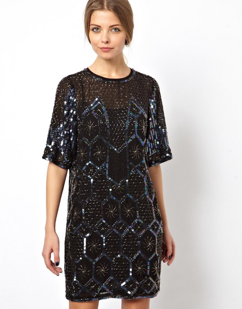 ASOS Premium Geo Embellished Mini Dress £120.00 NOW £72.00 click to visit ASOS