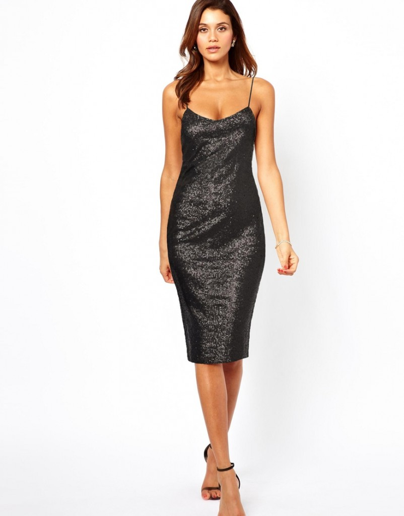 ASOS Sequin Cami Midi Dress £45.00 NOW £31.50 click to visit ASOS