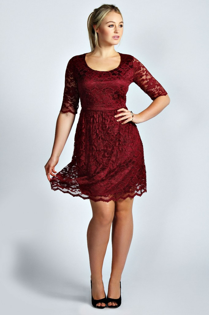 Ashley Lace Skater Dress Product code: pzz99965 £26.00 click to visit Boohoo