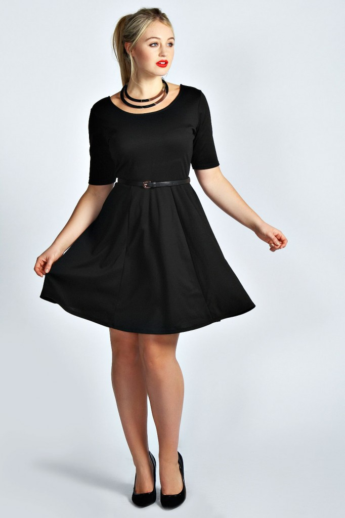 Taylor Plain Belted Skater Dress Product code: pzz99966 £18.00 click to visit Boohoo