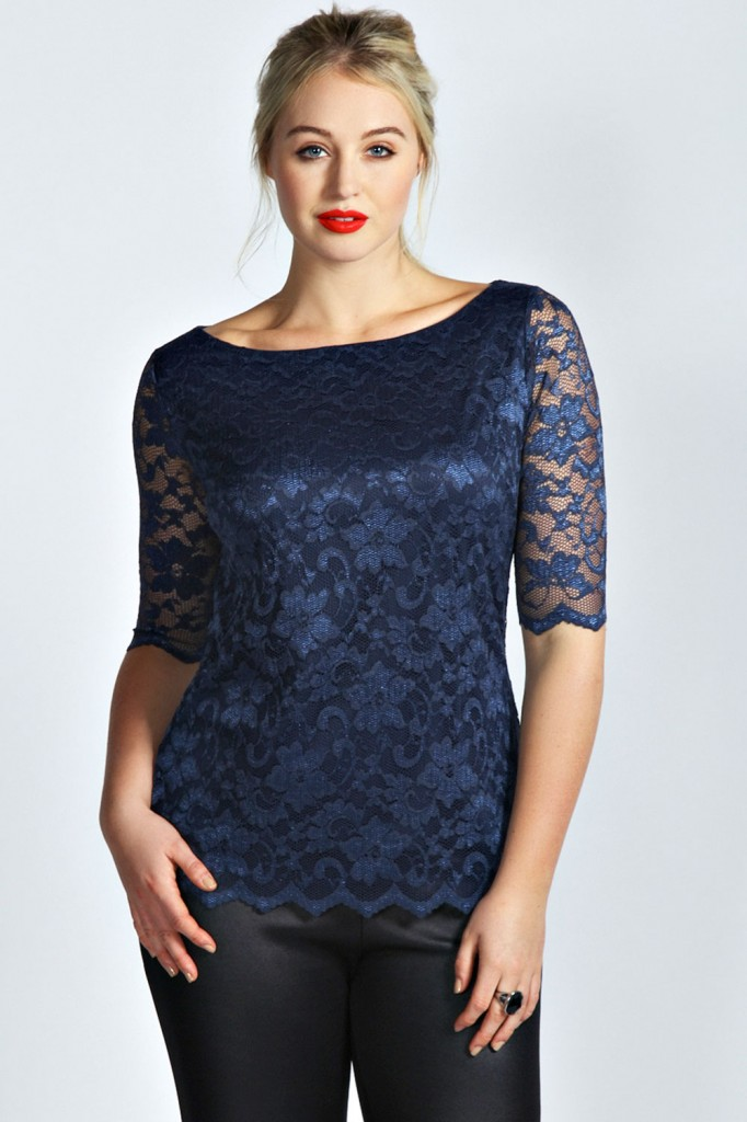 Samantha Lace Mid Sleeve Top Product code: pzz99974 £16.00 click to visit Boohoo