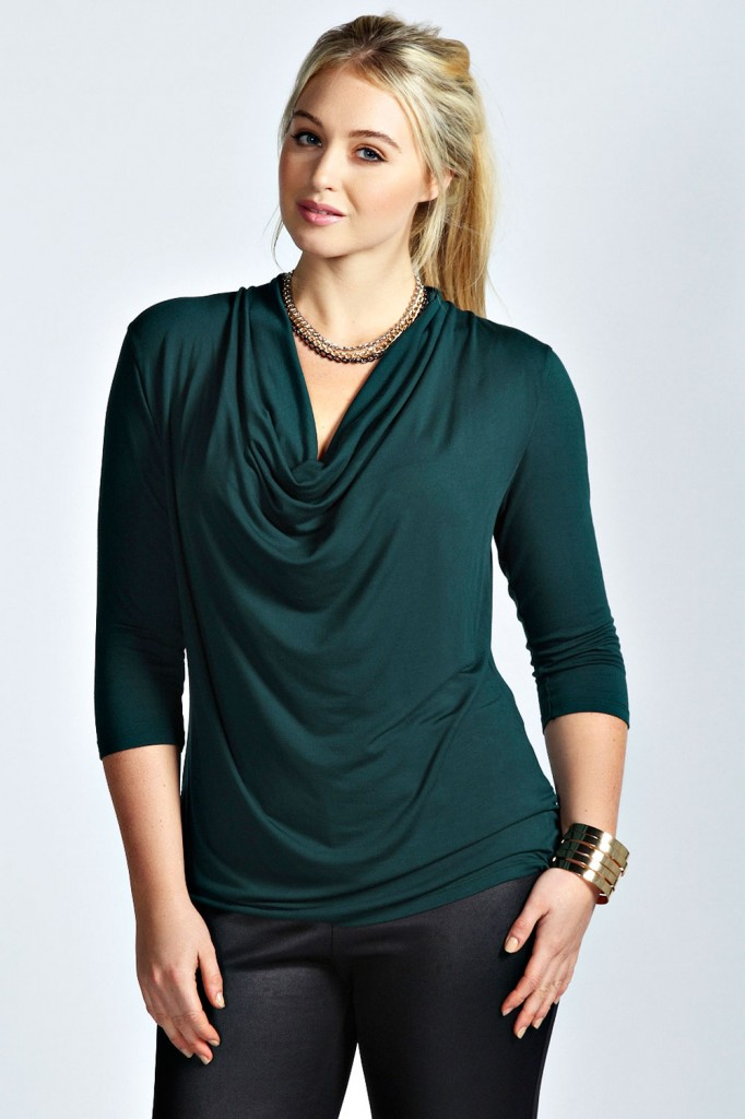 Amelia Cowl Front Top Product code: pzz99977 £12.00 click to visit Boohoo