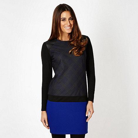 Designer blue checked panel tunic dress £27.50 click to visit Debenhams