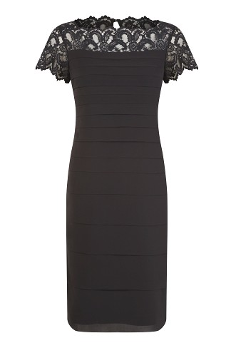 Lace Yoke Chiffon Dress Item No 010/030844/11 / Was £169.00 Now £99.00 click to visit Jacques Vert