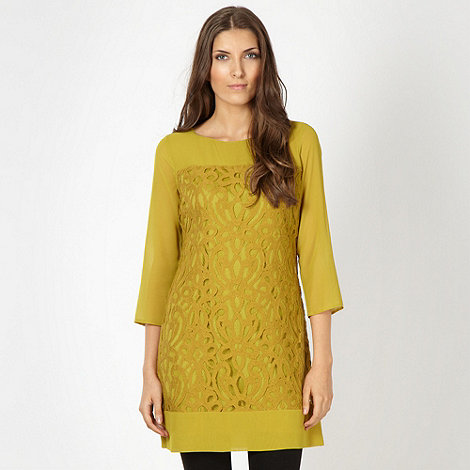 Designer olive lace chiffon tunic Now £18 click to visit Debenhams