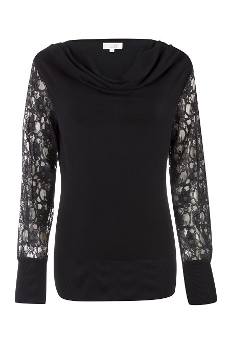 Lace Sleeve Jumper was £69 now £25 click to visit Kaliko