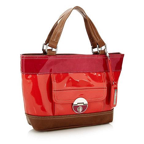 Principles Ben De Lisi Designer coral patent colour block grab bag £17.50 click to visit Debenhams