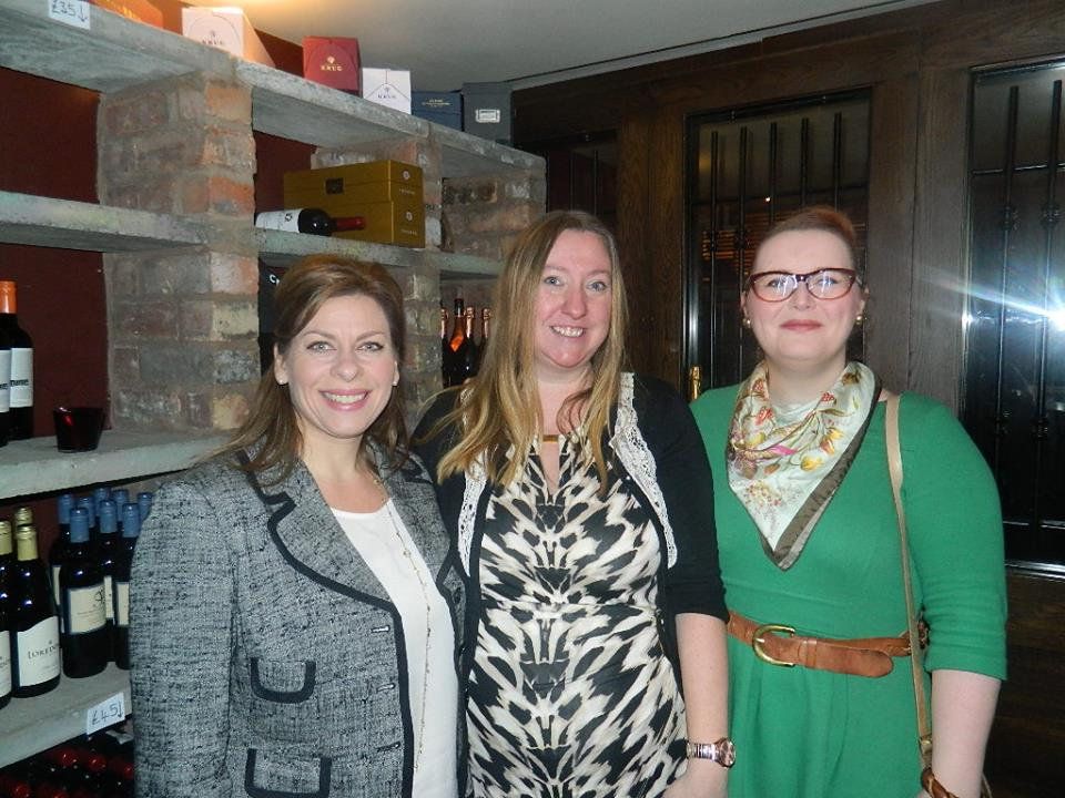 With fellow bloggers Lisa and Emily Jayne in the Wine Cellar at Malmaison.