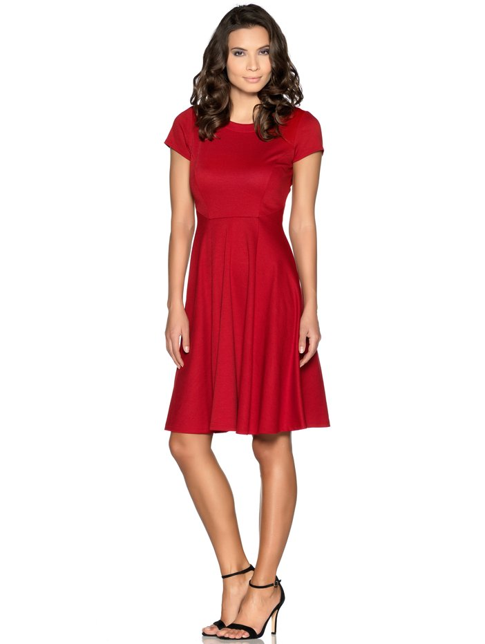 Red Skater Dress Was £35.00 now £25.00 click to visit M&Co
