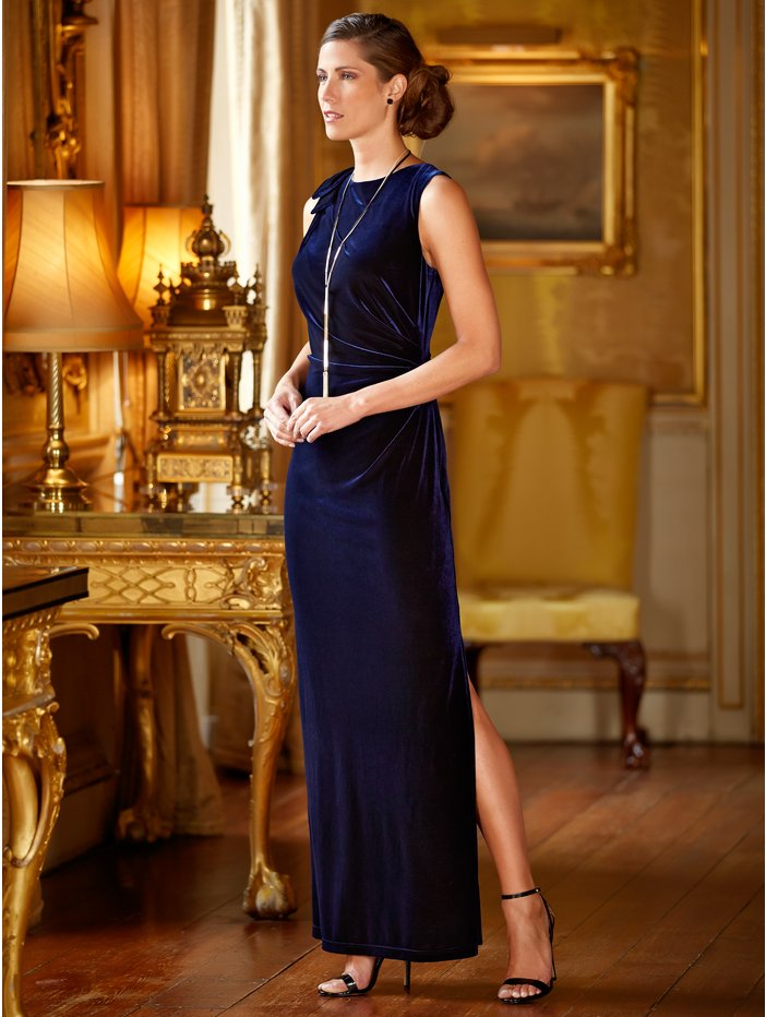 Velour Maxi Dress Was £69.00 now £29.00 click to visit M&Co