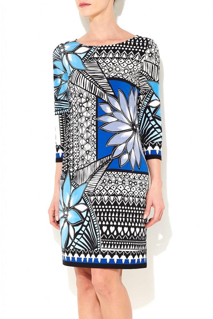 Blue Floral Print Dress Was £42.00 Now £39.90 click to visit Wallis