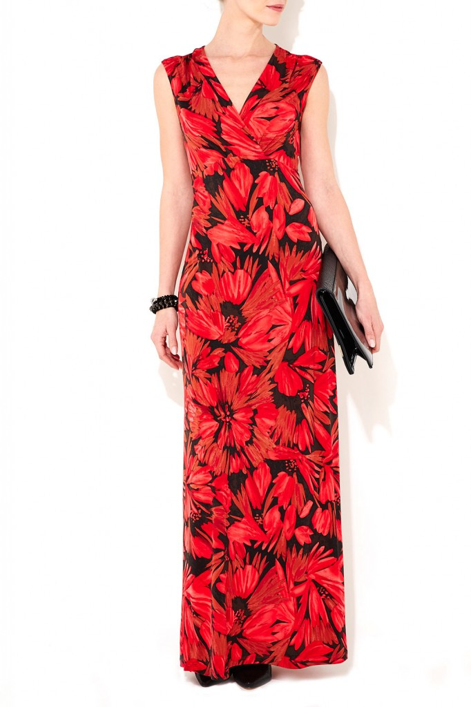 Red Floral Maxi Dress     Was £55.00     Now £44.00 click to visit Wallis