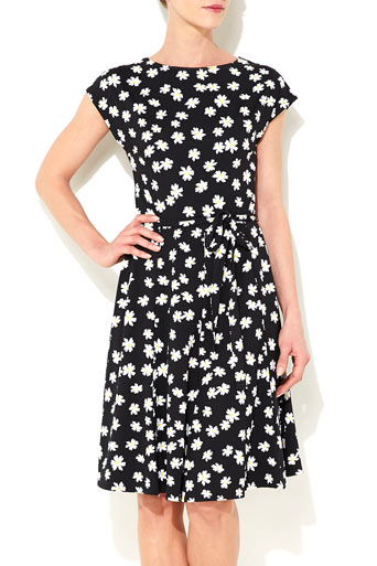 Black Daisy Fit and Flare Dress Was £38.00 Now £36.10 click to visit Wallis
