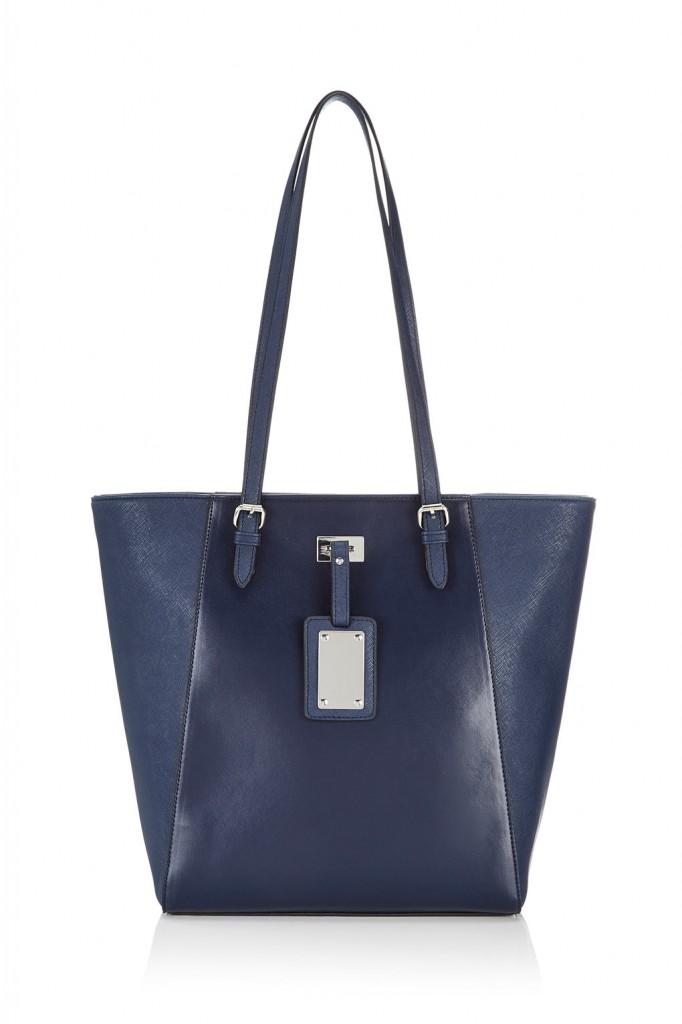Navy Blue Shopper Bag Was £26.00 Now £20.80 click to visit Wallis