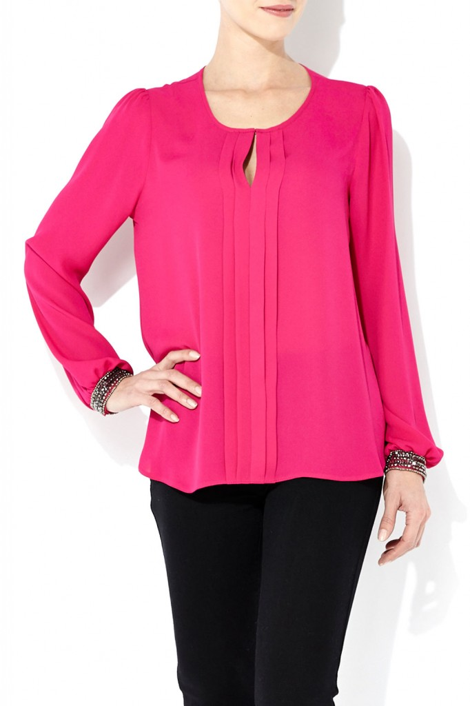 Pink Embellished Pleat Blouse     Was £36.00     Now £25.00 click to visit Wallis