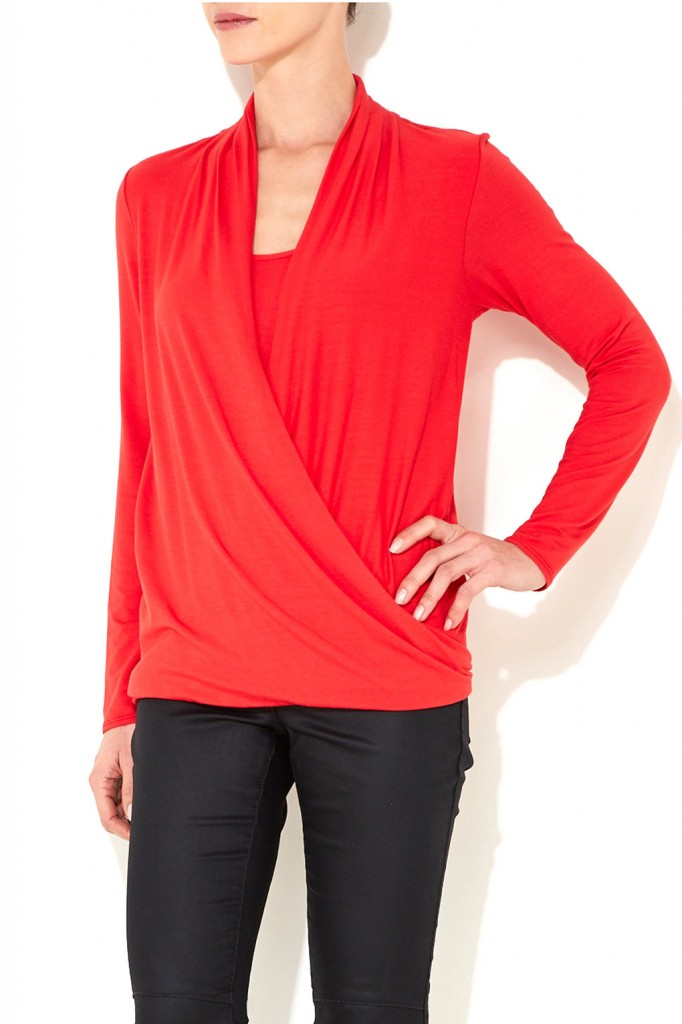 Coral Long Sleeve Drape Top Was £25.00 Now £23.75 click to visit Wallis